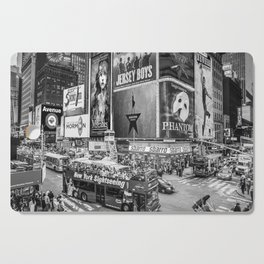 Times Square II (B&W widescreen) Cutting Board