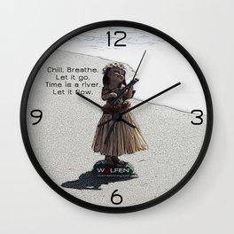 Wolfen Hula Babe Wall Clock