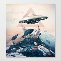 ufo Canvas Prints featuring UFO by Tanya_tk