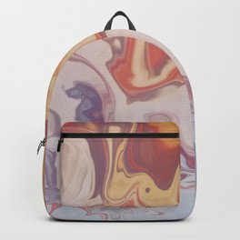 Abstract Pastel Color Liquid in Water Backpack