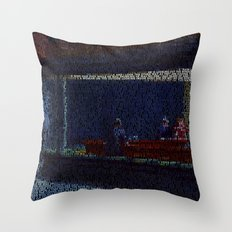 Tom's Diner (Edward Hopper/Suzanne Vega mash up) Throw Pillow