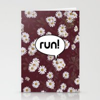 run Stationery Cards featuring run by Mimy