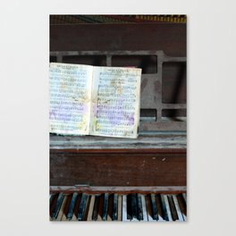 Abandoned Piano Canvas Print