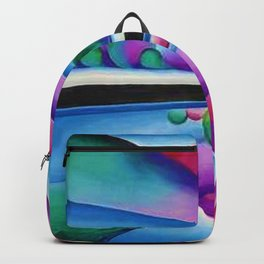 Lake George Reflection landscape painting by Georgia O'Keeffe Backpack