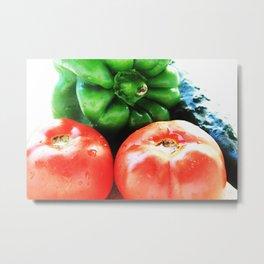 Colors of vegetables Metal Print