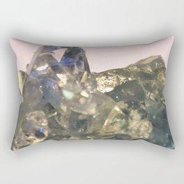 Blue Celestite Crystals Quartz Aura Said to Reduce Stress Rectangular Pillow