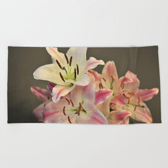 A Dream of Lilies #1 #decor #art #society6 Beach Towel