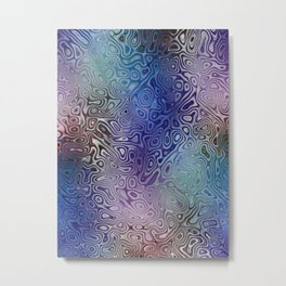 The Abstract Blues Metal Print