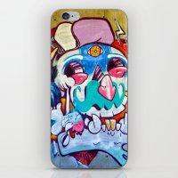 grafitti iPhone & iPod Skins featuring Grafitti Clown by Valann