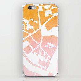 Vilnius map ombre iPhone Skin