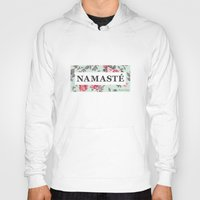 namaste Hoodies featuring Namaste by Rambutan Designs