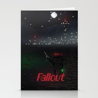 fallout Stationery Cards featuring Fallout Pixels by Kazisvet