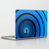 james bond Laptop & iPad Skins featuring Bond Man by Steve Purnell
