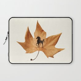Horse on a dried leaf Laptop Sleeve