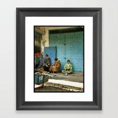 North African tea time Framed Art Print