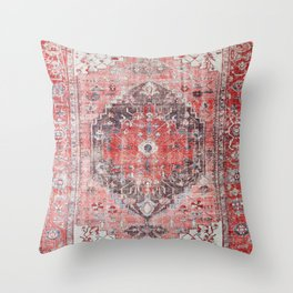 N62 - Vintage Farmhouse Rustic Traditional Moroccan Style Artwork Throw Pillow