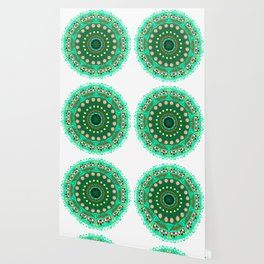 the blossoming of a forest mandala Wallpaper