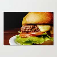 hamburger Canvas Prints featuring Hamburger by Mauricio Togawa