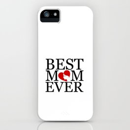Best mom ever with face of a mother forming a heart- mothers day gifts for mom iPhone Case