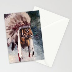Tiger in war bonnet Stationery Cards