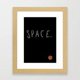 Space. Framed Art Print