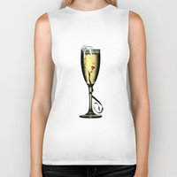 champagne Biker Tanks featuring Champagne by CokecinL