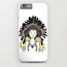Native American Girl (colored) Slim Case iPhone 6s