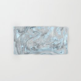 Ice Blue and Gray Marble Hand & Bath Towel