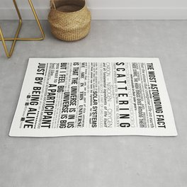 Neil DeGrasse Tyson Science Manifesto Rug