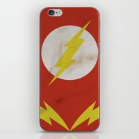 the flash iPhone & iPod Skins featuring Flash by JHTY