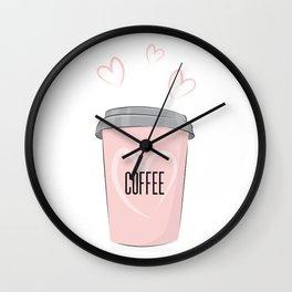 Coffee is my love Wall Clock