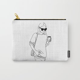 Woman with Coffee Carry-All Pouch