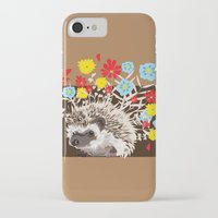 hedgehog iPhone & iPod Cases featuring hedgehog by Caracheng
