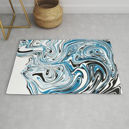 Abstract Marble Topographic map Rug