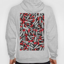 Lipstick chrome / 3D render of red chrome lipsticks Hoody