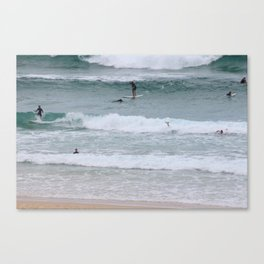 Bondi Beach Surfers Canvas Print