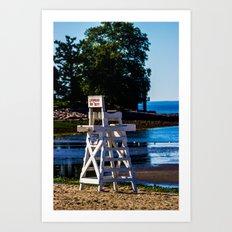 Life guard off duty - enjoy the beach Art Print