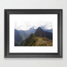 Machu Picchu Framed Art Print