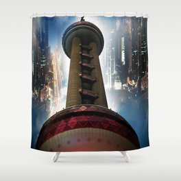 Shanghai - Oriental Pearl Tower Shower Curtain