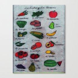Frutas & Verduras Canvas Print
