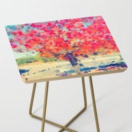 Orange Tree Watercolor digital Side Table