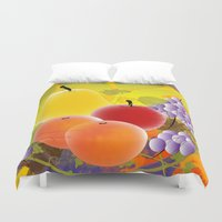 fruit Duvet Covers featuring Fruit by Ramon J Butler-Martinez