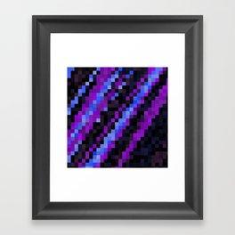 Purple Blue and Black Framed Art Print