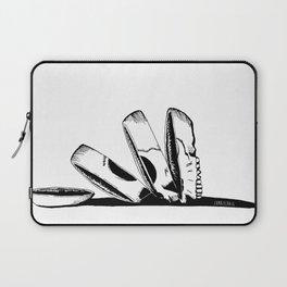 Sliced Falling Skull by zombieCraig Laptop Sleeve