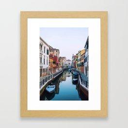 City on Water (Color) Framed Art Print