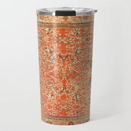 Antique Persian Sultanabad Rug Print Travel Mug