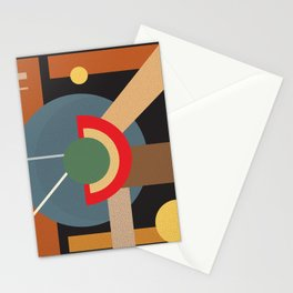Abstract geometric composition study- clocks Stationery Cards