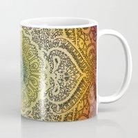 bohemian Mugs featuring Bohemian Lace by Jenndalyn