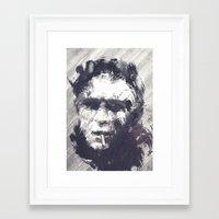 steve mcqueen Framed Art Prints featuring Steve McQueen - The Legend by HelloFedUp