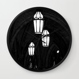 Church Arches and Lanterns Photograph by Larry Simpson Wall Clock